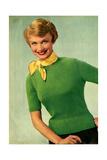 1950s UK Womens Knitwear Magazine Plate