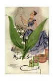 1940s USA Coty Magazine Advertisement Giclée