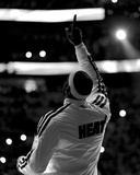 Miami  FL - June 20: (Editors note: This image has been converted to black and white) LeBron James