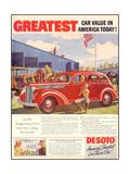 1930s USA Desoto Magazine Advertisement