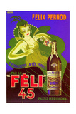 1930s France Felix Pernod Poster