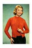 1950s UK Womens Knitwear Magazine Advertisement