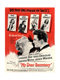 USA My Dear Secretary Film Poster  1940s