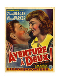 1940s France Adventure for Two  Voice Of The Turtle Film Poster