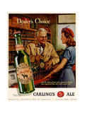 1940s USA Carling Ale Magazine Advertisement