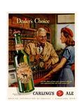 1940s USA Carling Ale Magazine Advertisement