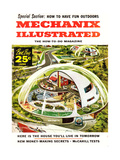1950s USA Mechanix Illustrated Magazine Cover