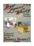 1900s UK Royal Liqueurs Poster