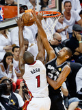 Miami  FL - June 20: Chris Bosh and Tim Duncan