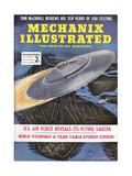 1950s USA Mechanix Illustrated Magazine Cover