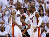 Miami  FL - June 20: Chris Bosh and Dwyane Wade