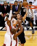 Miami  FL - June 20: Manu Ginobili  LeBron James and Chris Bosh