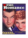 True Romance Vintage Magazine - April 1936 - Claudette Colbert & Fred Macmurray