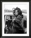 Italian Actress Sophia Loren Arriving at Crumlin Where She Filmed Scenes For the Film 'Arabesque'