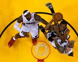 Miami  FL - June 20: Kawhi Leonard  Chris Andersen and LeBron James