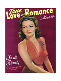 True Love & Romance Vintage Magazine - March 1942 - Cover - Lynn Bari - for All Eternity