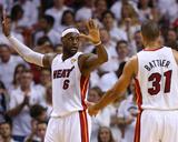 Miami  FL - June 20: LeBron James and Shane Battier