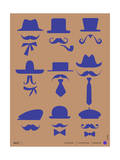 Hats and Mustaches Poster II