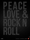 Peace Love and Rock N Roll Poster Reproduction d'art par NaxArt