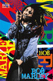 Bob Marley Pop Art Name Music Poster