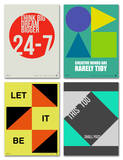 Graphic Phrase Poster Set