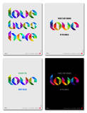 Love Phrase Poster Set