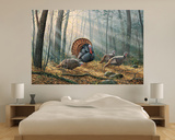 Wild Turkeys (Indoor/Outdoor) Vinyl Wall Mural