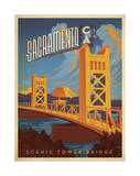 Sacramento, California: Scenic Tower Bridge Reproduction d'art par Anderson Design Group