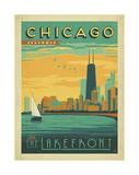 Chicago, Illinois: Enjoy The Lakefront Reproduction d'art par Anderson Design Group