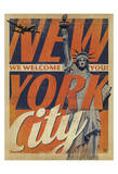 New York City: We Welcome You! Reproduction d'art par Anderson Design Group