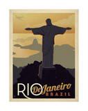 Rio de Janeiro, Brésil Reproduction d'art par Anderson Design Group