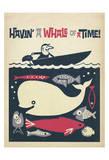 Havin' A Whale Of A Time! Reproduction d'art par Anderson Design Group