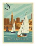 San Francisco  California (Sailboats)