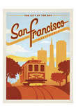 San Francisco, California: The City By The Bay Reproduction d'art par Anderson Design Group