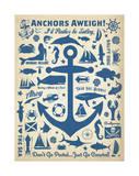 Anchors Away! Reproduction d'art par Anderson Design Group