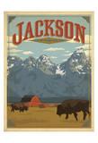 Jackson, Wyoming Reproduction d'art par Anderson Design Group