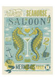 Welcome To The Seahorse Saloon Reproduction d'art par Anderson Design Group