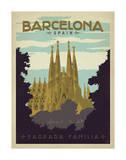 Barcelone, Espagne Giclée par Anderson Design Group