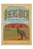 Ayers Rock, Australia Reproduction d'art par Anderson Design Group
