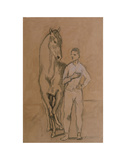 Horse with a Youth in Blue  1905-6