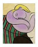 Woman with Yellow Hair (Femme aux cheveux jaunes) Reproduction d'art par Pablo Picasso