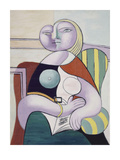 La lecture (Woman Reading) Reproduction d'art par Pablo Picasso