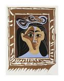 Jacqueline au Chapeau a Fleurs Reproduction d'art par Pablo Picasso