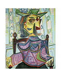 Seated Portrait of Dora Maar Reproduction d'art par Pablo Picasso