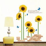 ECO Morning Sunflowers Wall Sticker Decal