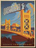 Sacramento  California: Scenic Tower Bridge