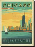 Chicago, Illinois: Enjoy The Lakefront Tableau sur toile par Anderson Design Group