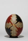 An Easter Egg with an Oak Leaf Motif