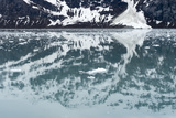 Reflection of a Glacier in the Ocean in Glacier Bay National Park