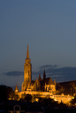 A Twilight View of Matthias Church in Buda Castle